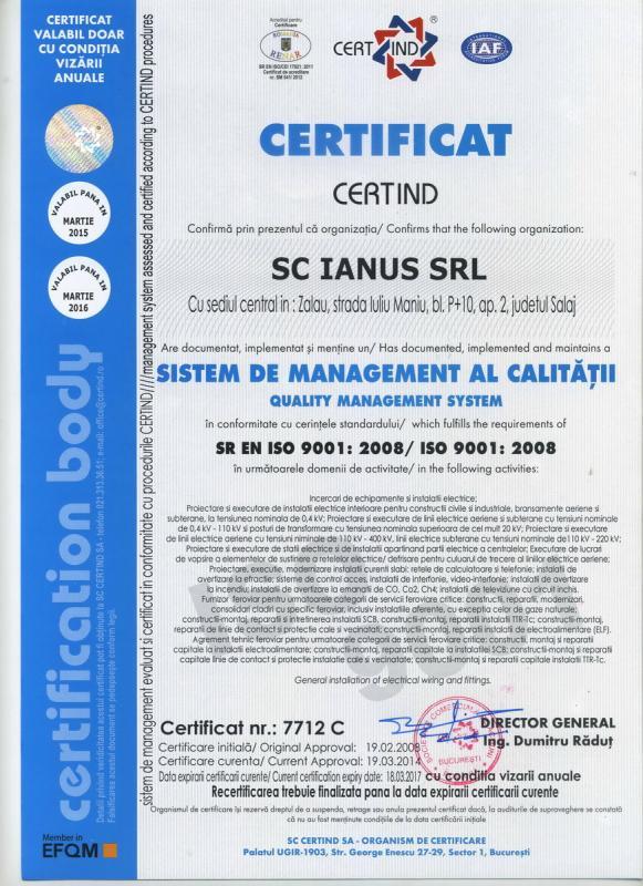 ISO CALITATE  9001:2008