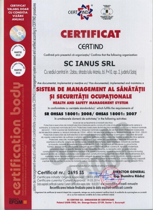 ISO SANATATE 18001